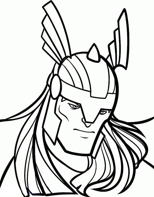 thor face coloring pages google search super heros pinterest