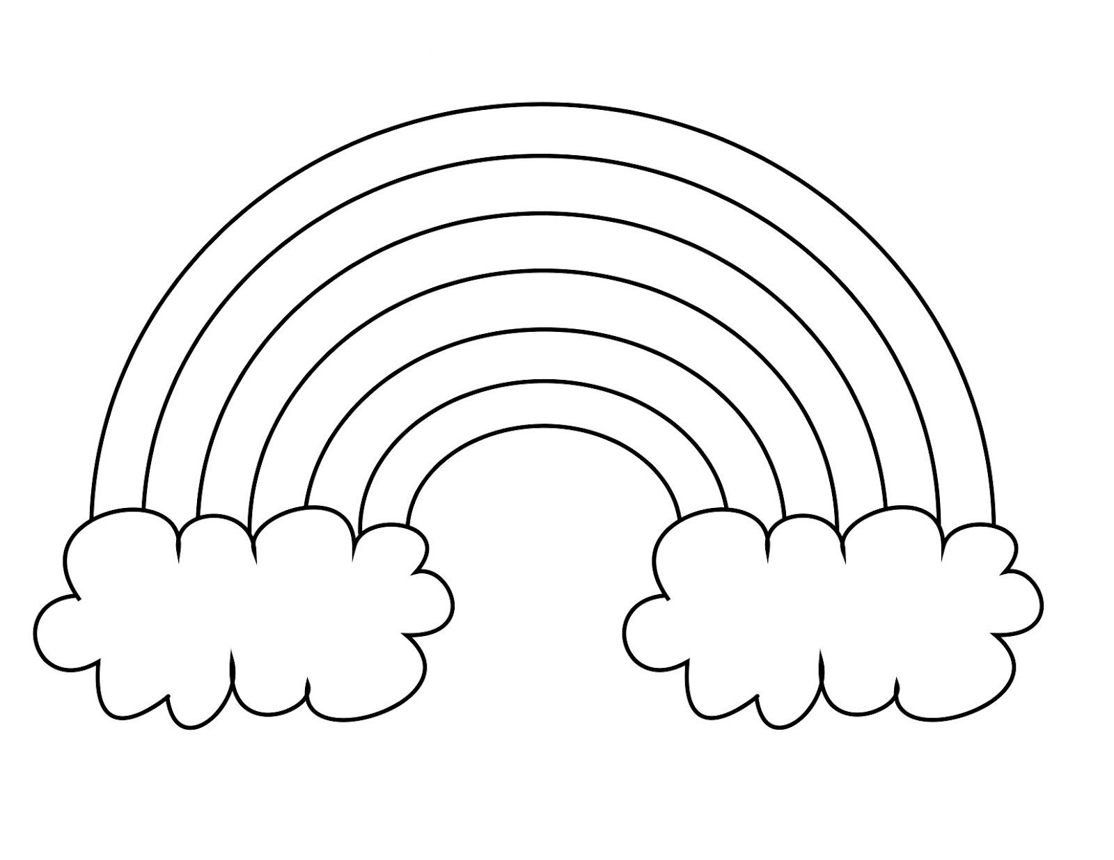 Rainbow Coloring Page For Pasta Cotton Ball Wax Paper