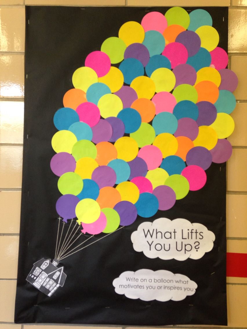 What Lifts You Up Bulletin Board Up Themed Ra Life