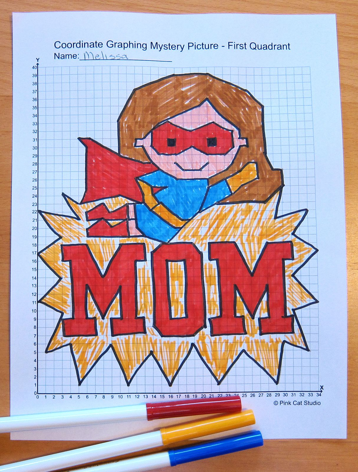 Mother S Day Math Coordinate Graphing