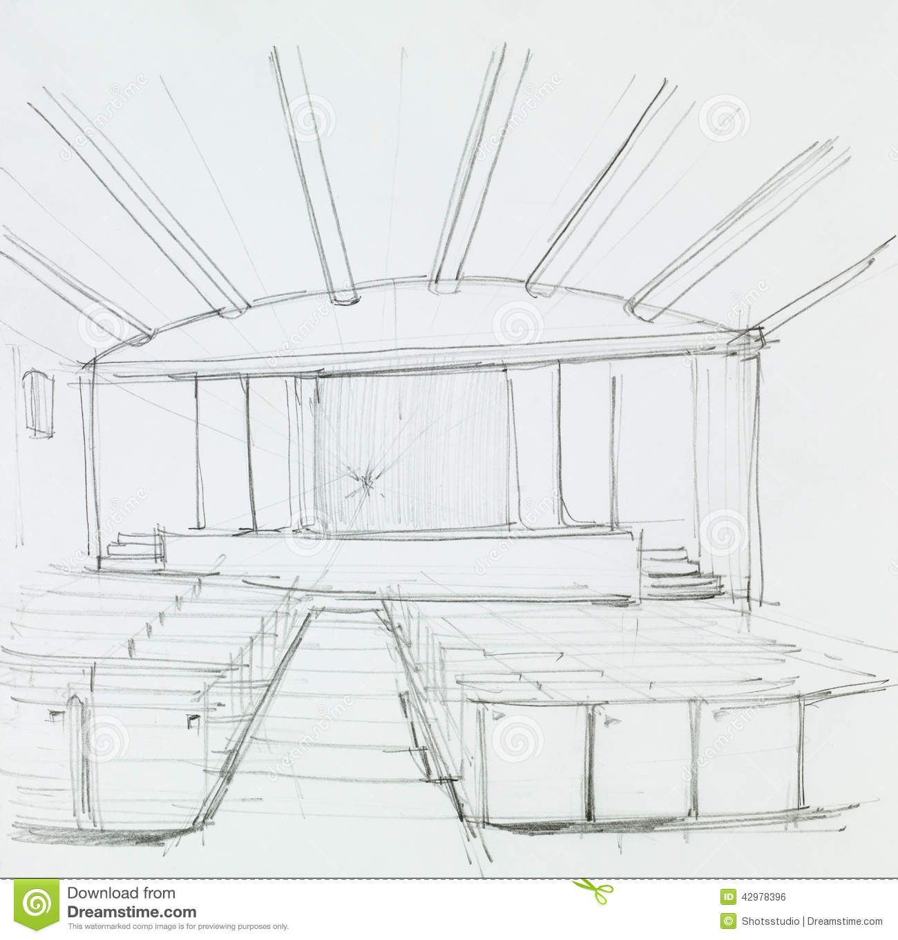 Image Result For Perspective Drawing Of Auditorium