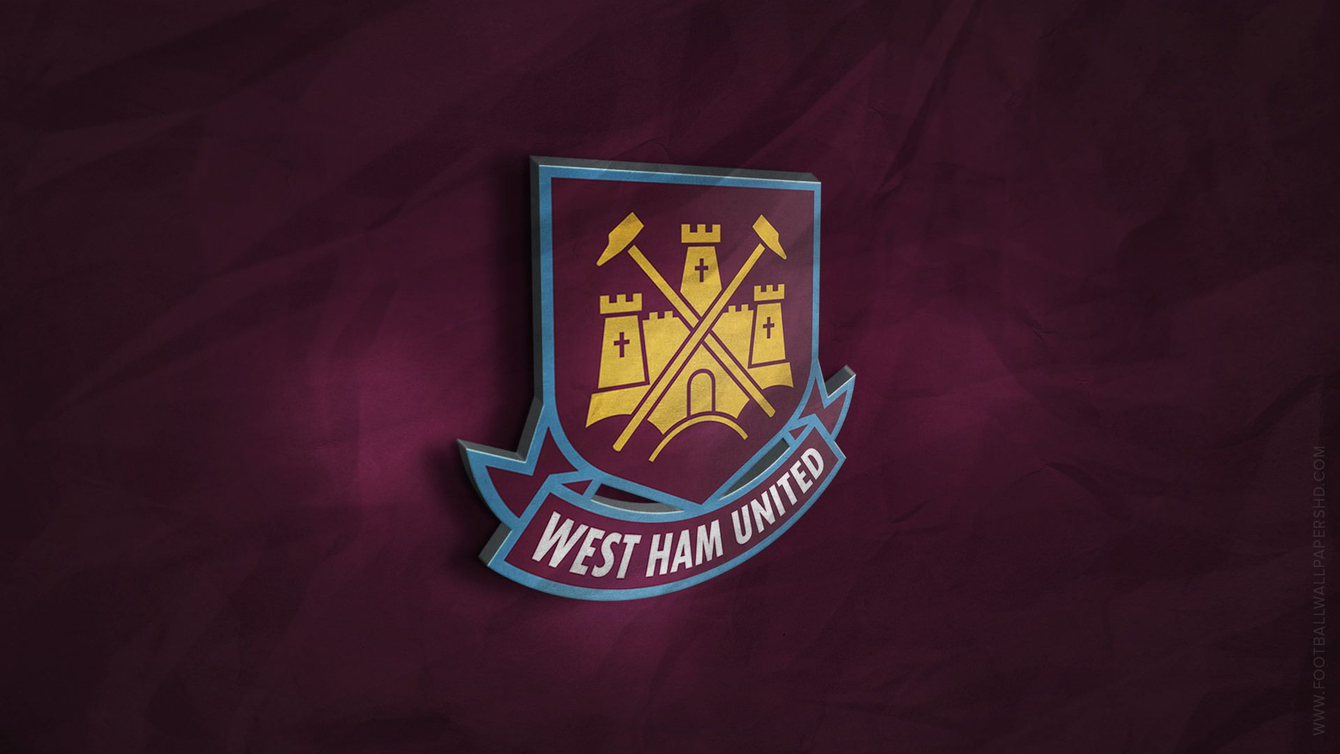 West Ham United 3D Logo Wallpaper Football Wallpapers HD