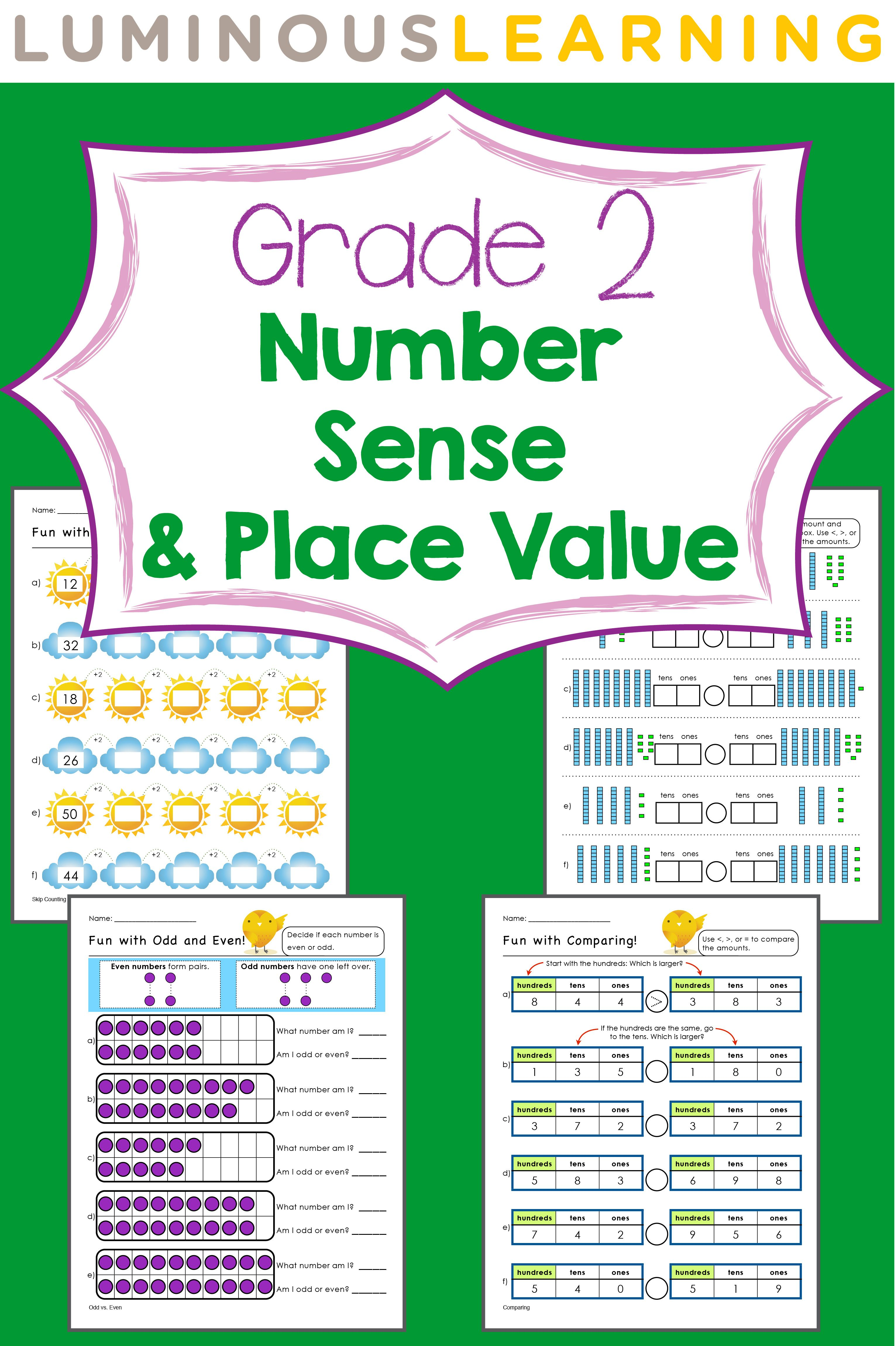 Grade 2 Number Sense And Place Value E Workbook Making