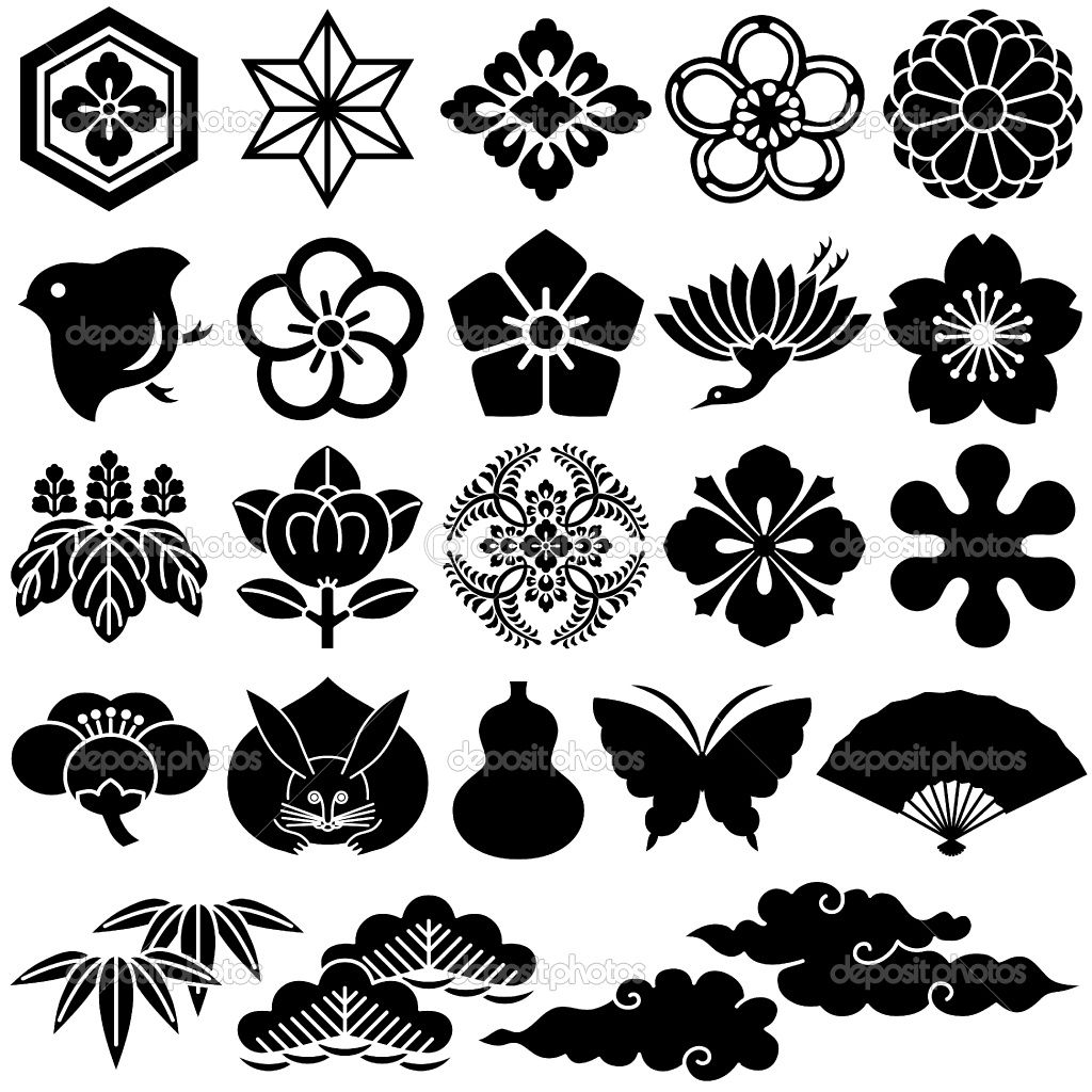 Japanese Design Patterns Japanese traditional icons