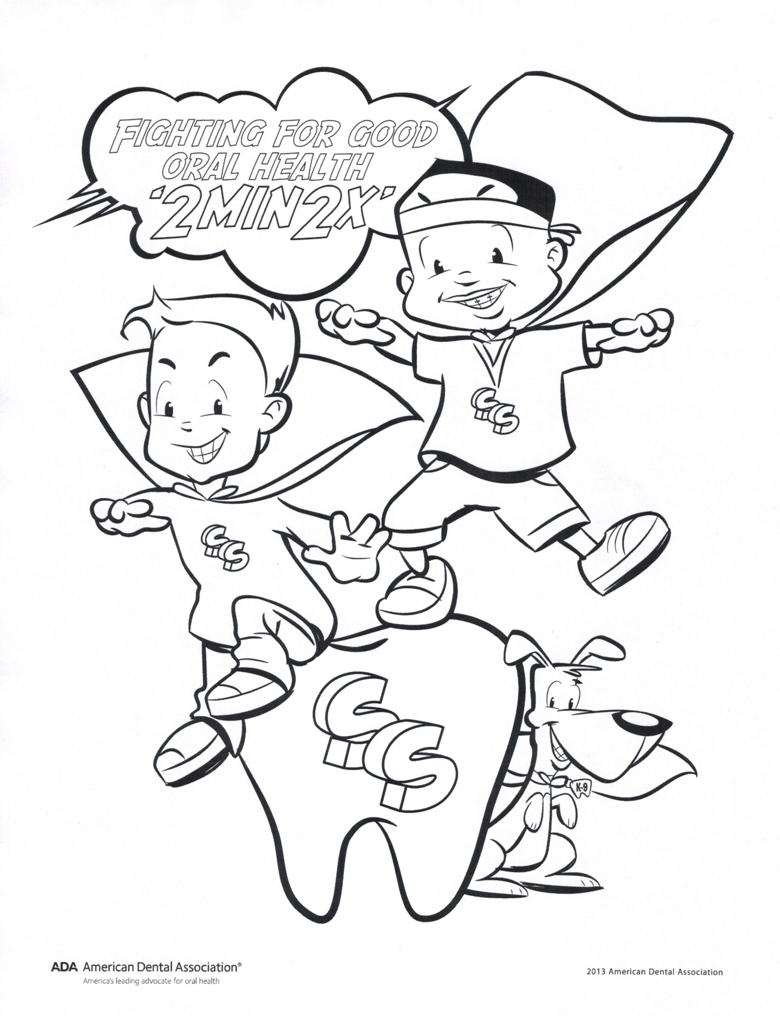 Fight For Good Oral Health Coloring Page