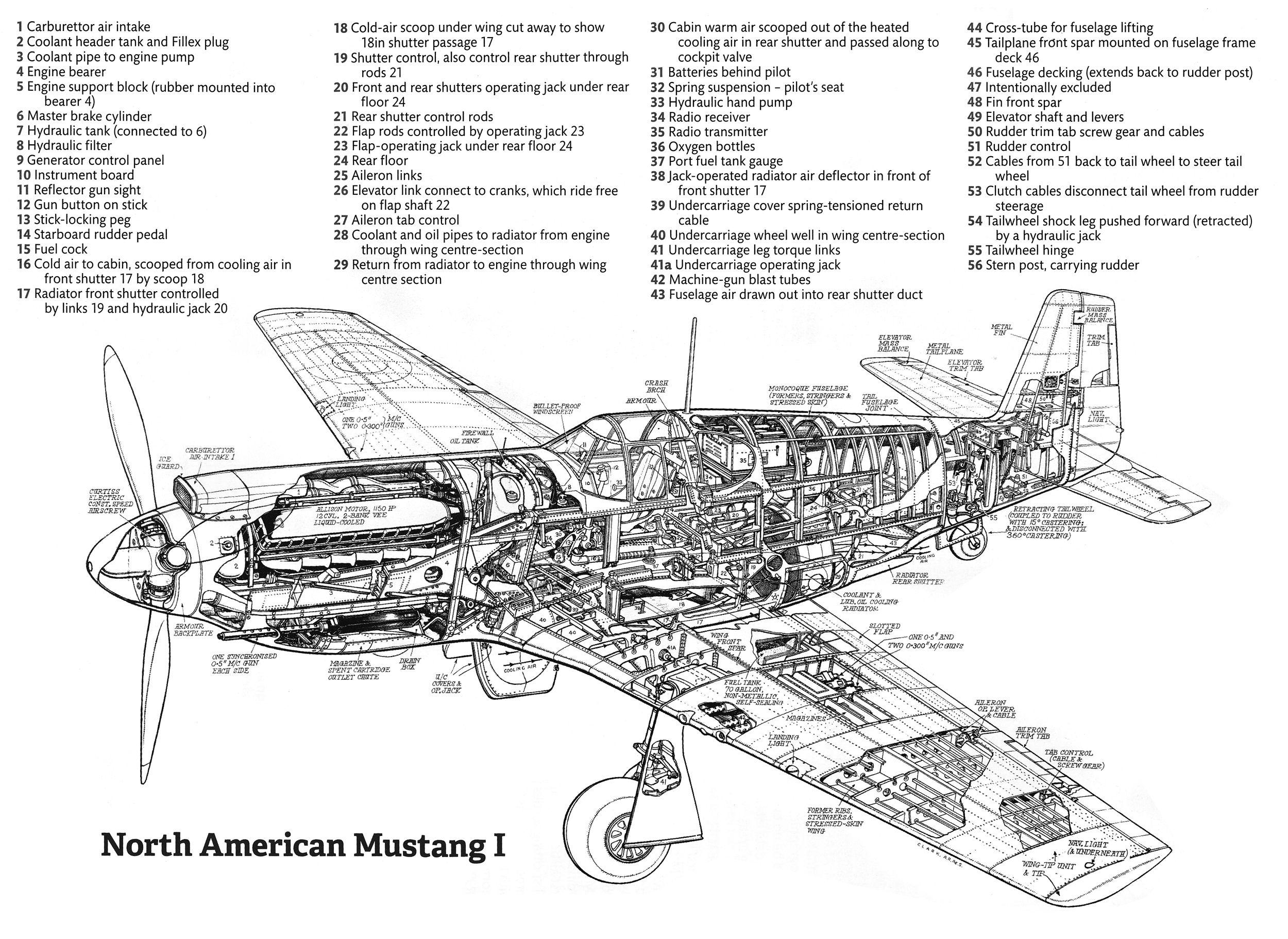 North American P51a Mustang Cutaway