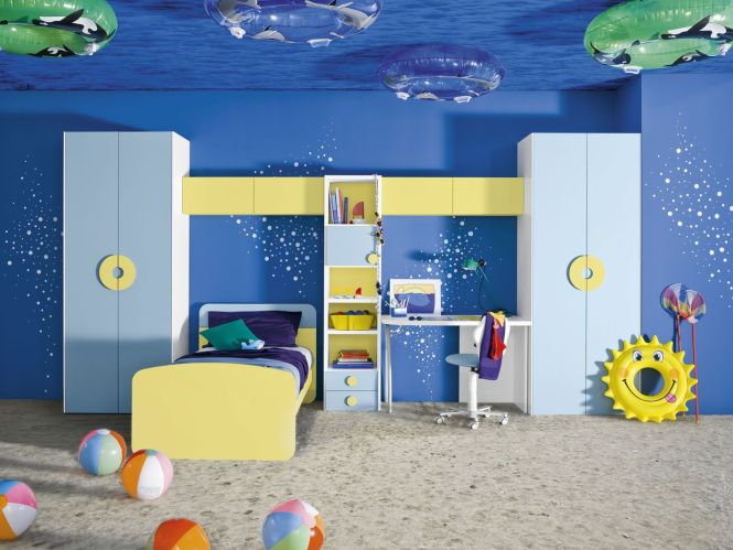 Homeownerbuff Awesome Blue Underwater Life Themed For Boys Room Design Inspiration