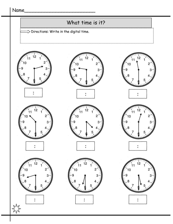 Blank Printable Clock Face Worksheets