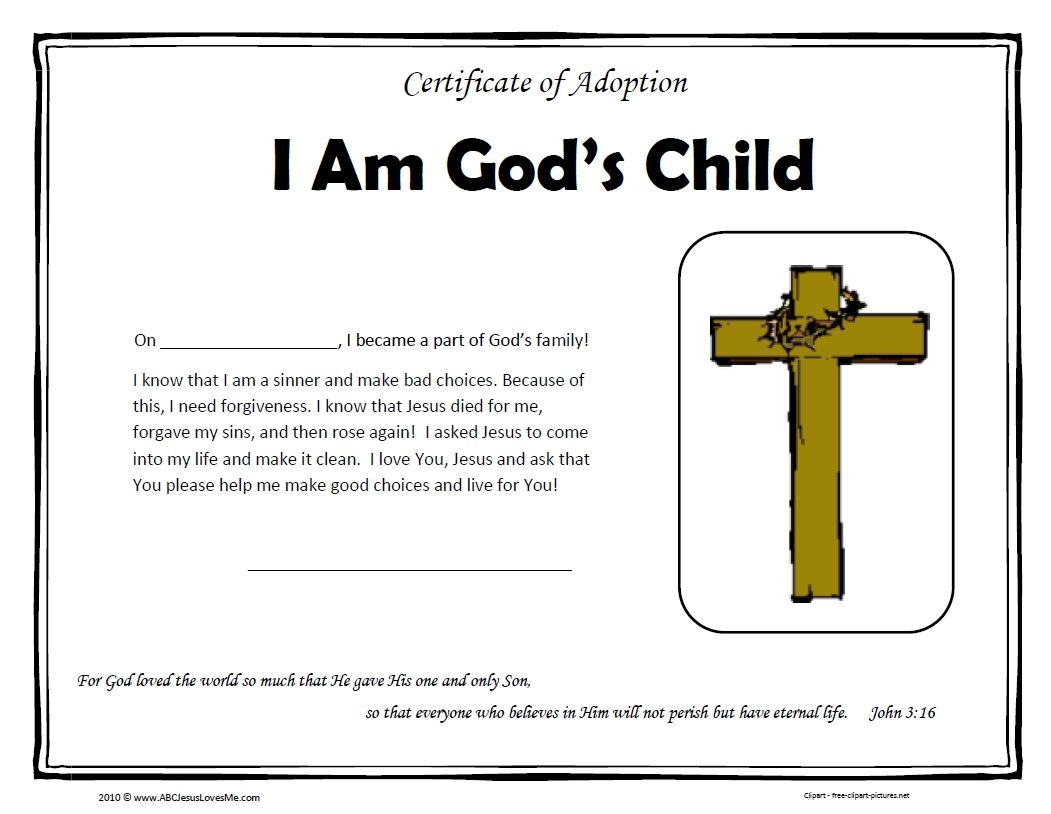 Accepted Jesus Certificates Templates