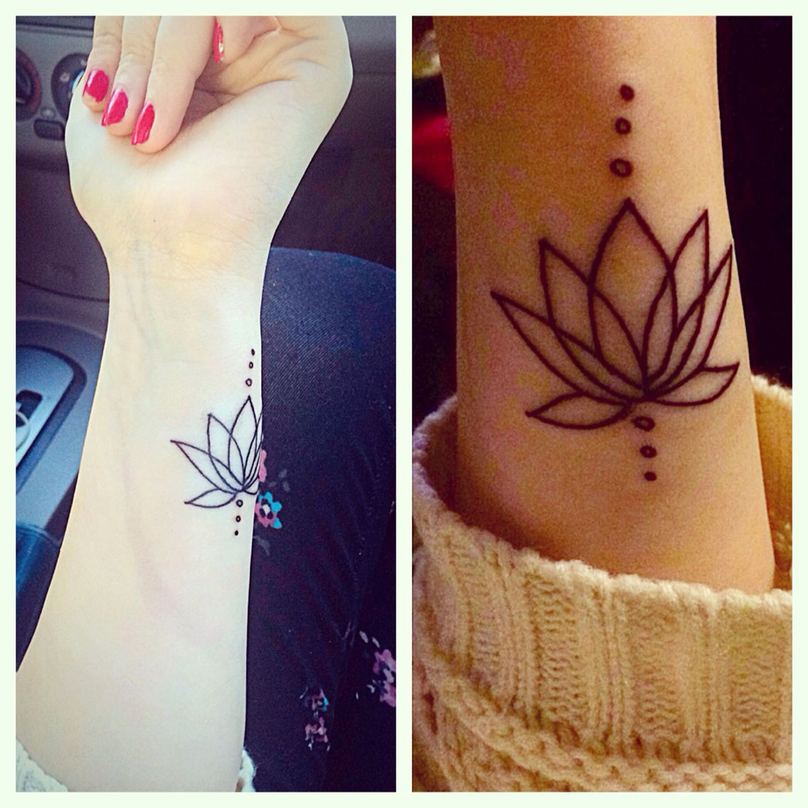 Lotus flower outline wrist tattoo Tattoos Pinterest
