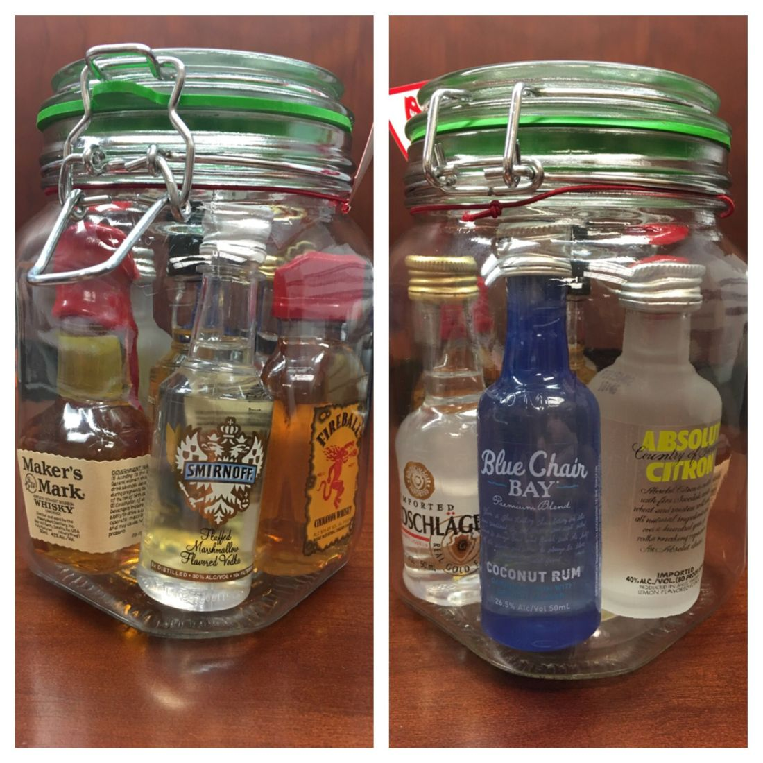 Minibar in a jar all for 20 jar 3ish at walmart