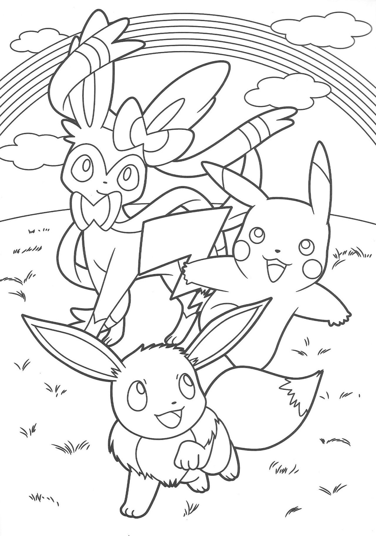 Pokémon Scans from PacificPikachu's Collection Coloring