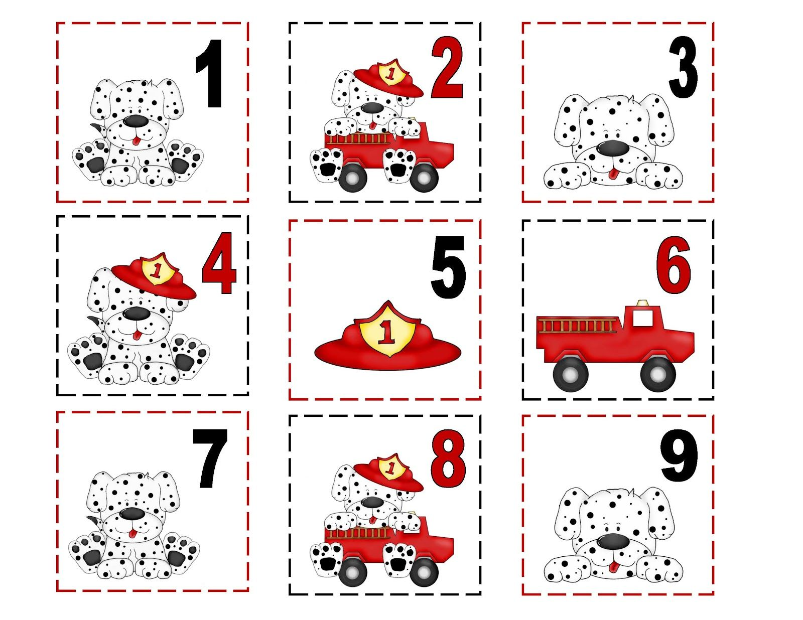 Free Fire Safety Printables Number Cards To Sequence