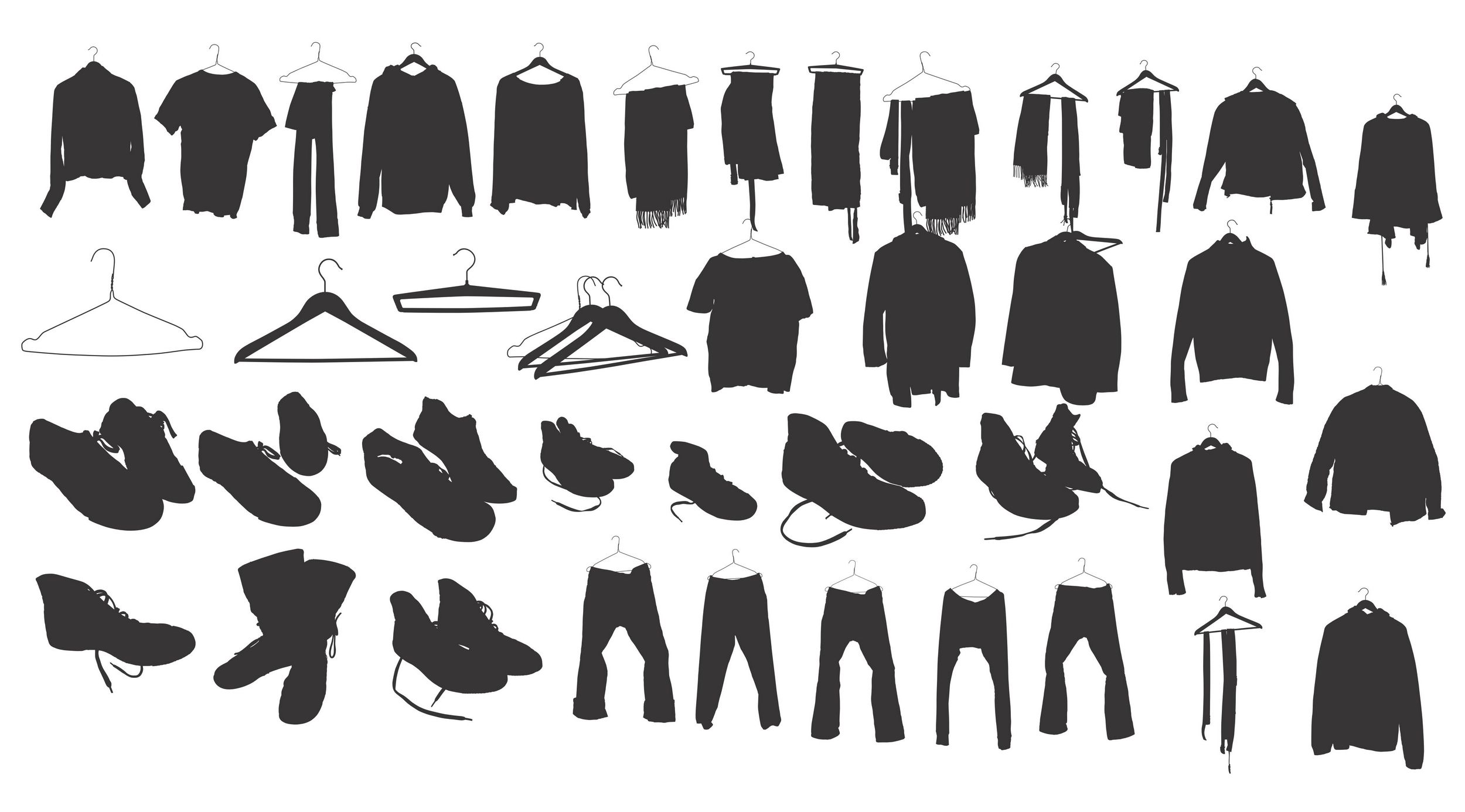 Clothing Shoes Silhouette Silhouettes Vector Pinterest