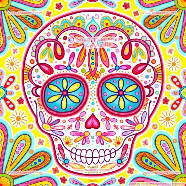 """Super Skull 2"" by Thaneeya McArdle sugarskull"