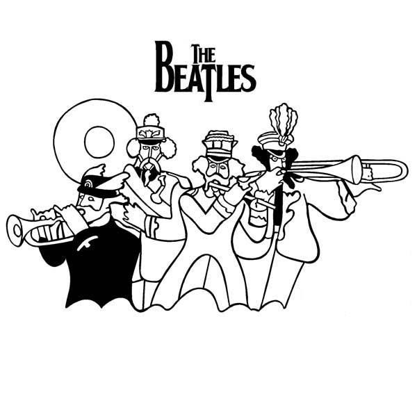 beatles yellow submarine coloring pages  lineart the