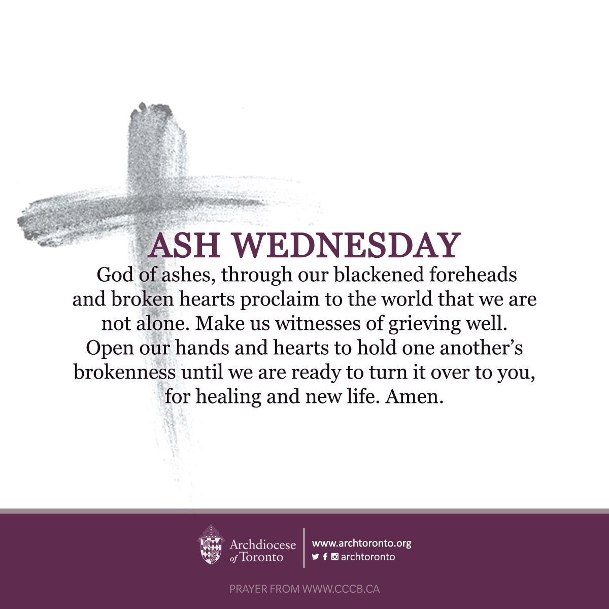 A Prayer And Reflection For Ash Wednesday On Fb