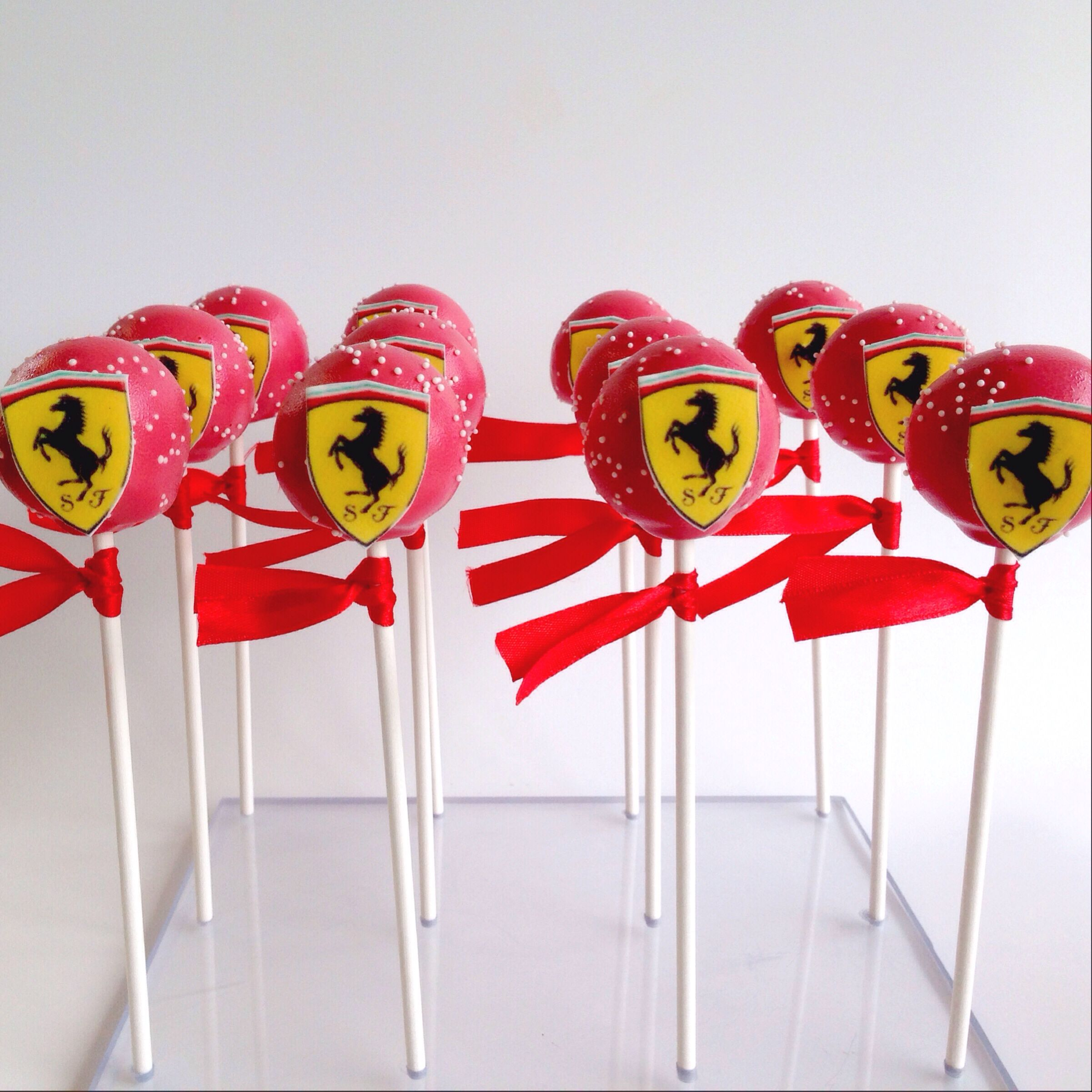 Ferrari Themed Cake Pops