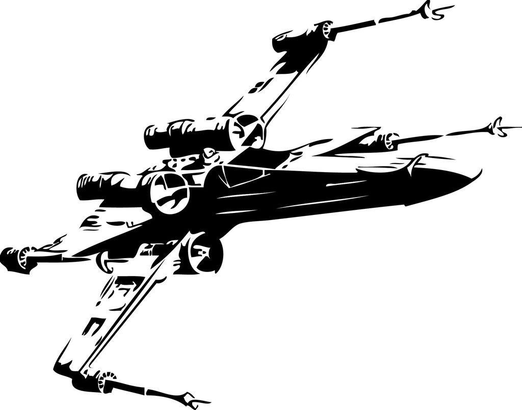 X Wing Fighter Vinyl Cut Out Decal Sticker In Your Choice