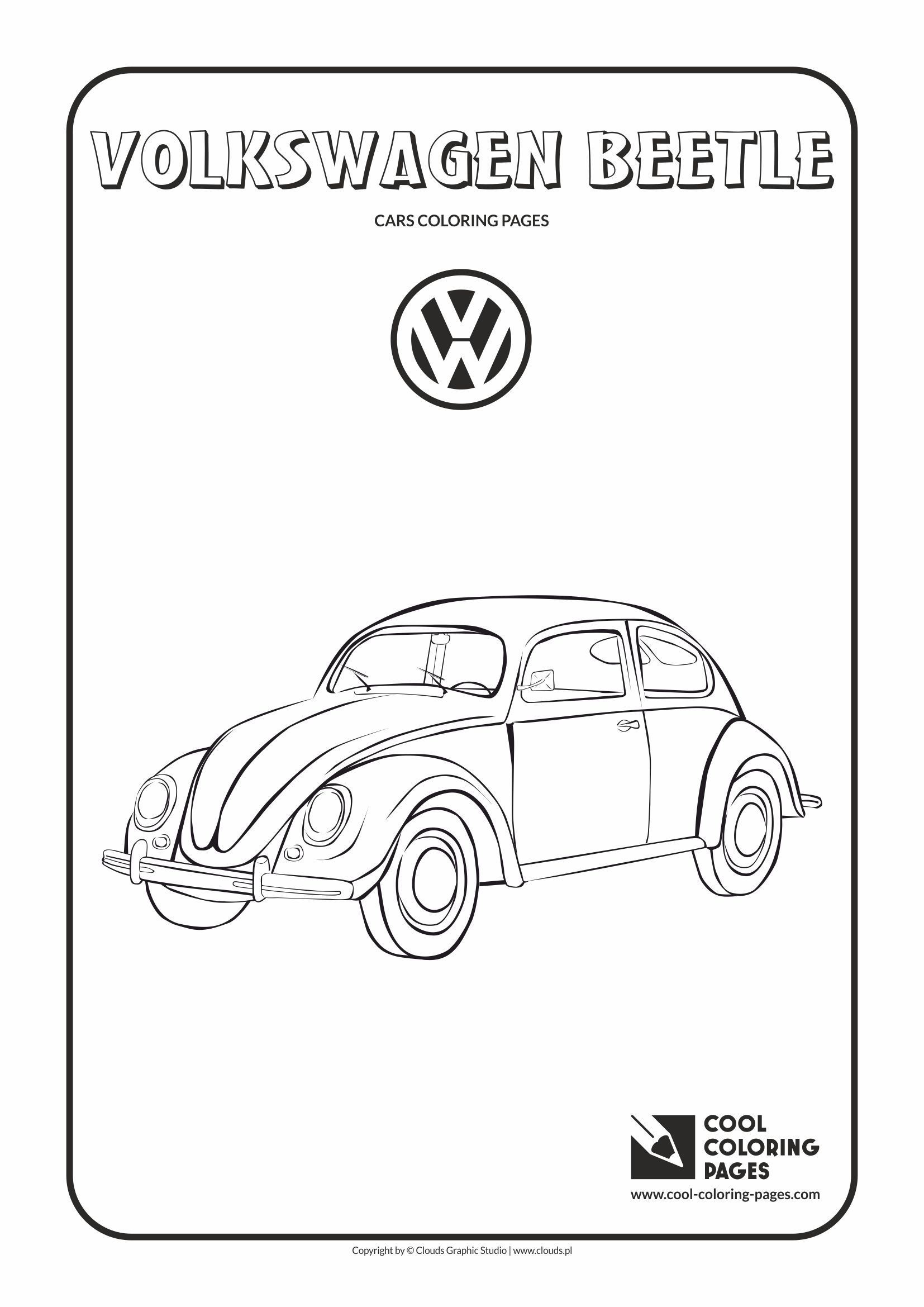 Volkswagen Bug Coloring Pages