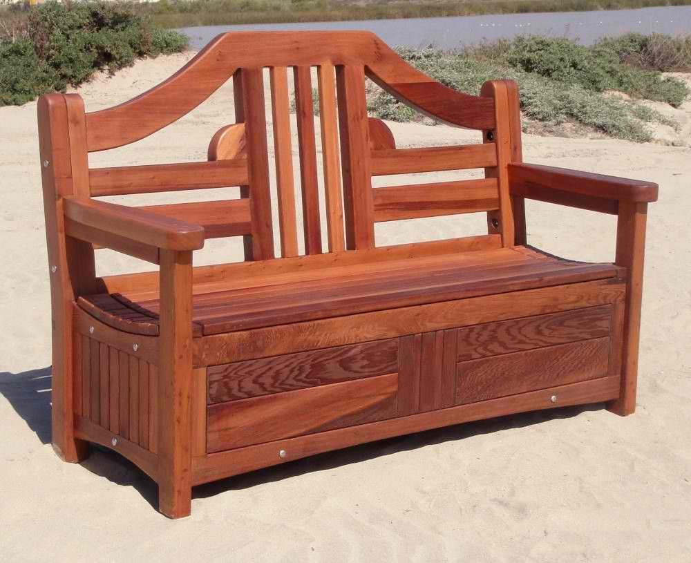 Patio Storage Bench Landscaping Examples Pinterest