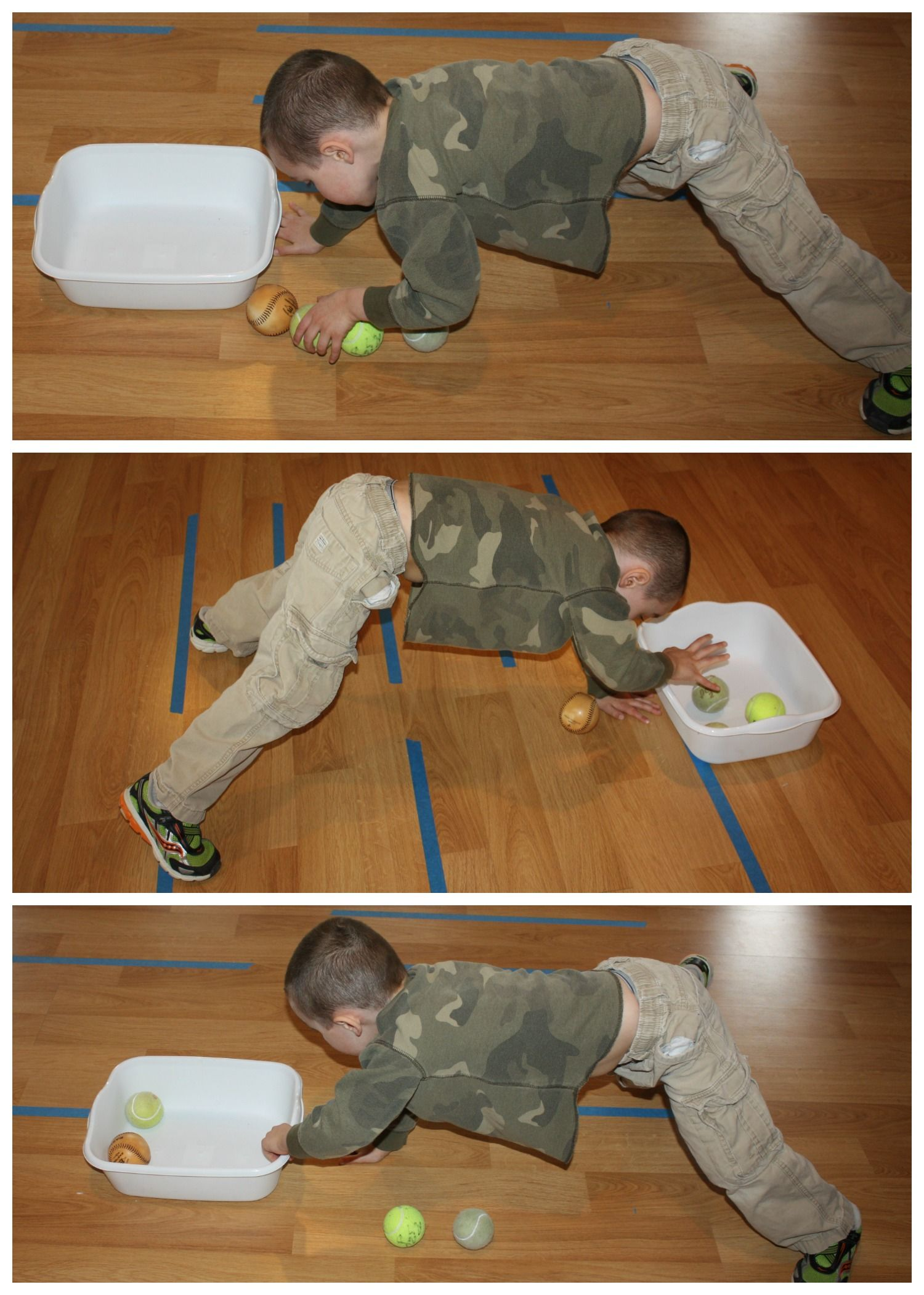 Vestibular Sensory Play Tennis Ball Games For Kids
