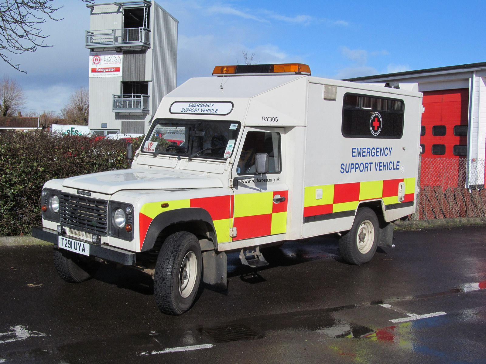 Land Rover Defender 130 Td5 Emergency Support Vehicle built on
