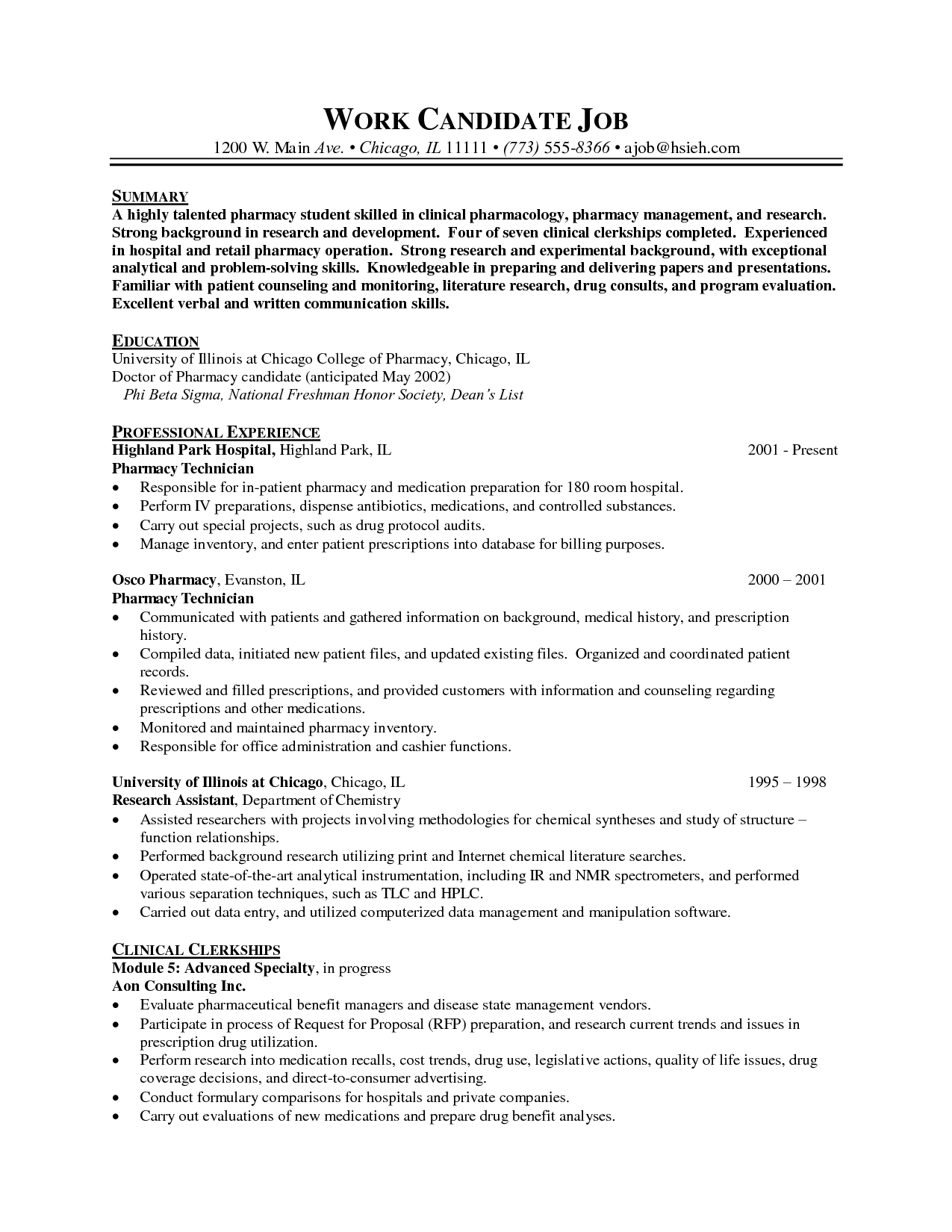 pharmacy tech resume objective resume objective for pharmacy