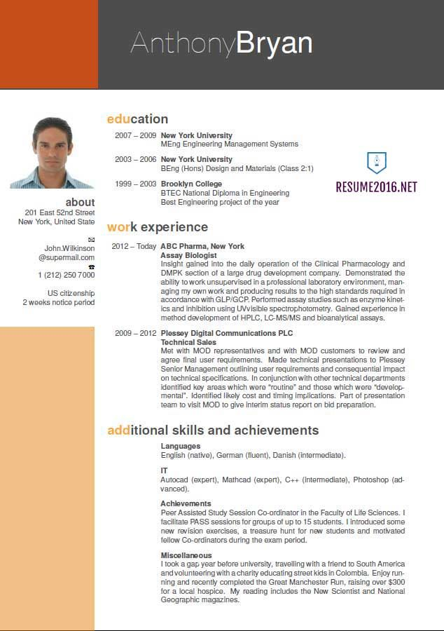 best resume format 2016 free small medium and large images - Ideal Resume Format