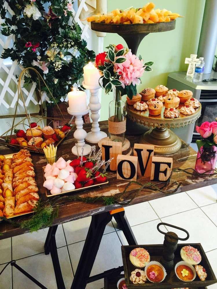 Garden rustic pretty Bridal/Wedding Shower Party Ideas