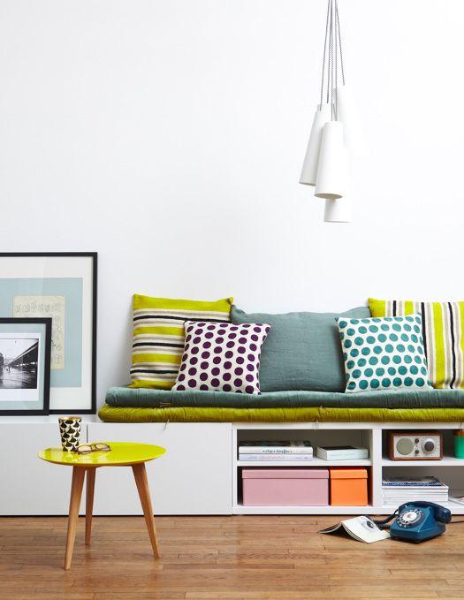Simple Banquette Avec Des Meubles Besta Ikea With Banc