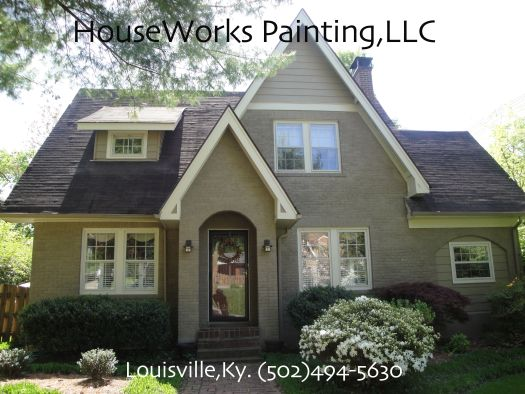 Painting Brick Houses Pictures Houseworks On The Bricks Exterior House