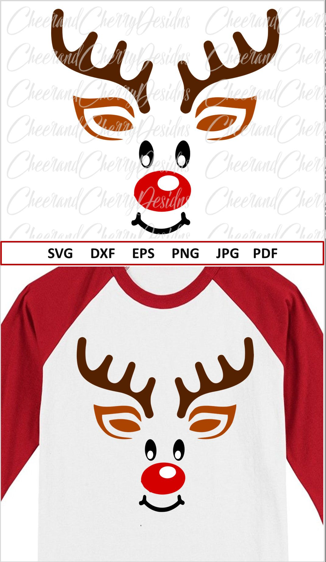 Reindeer Svg for Cricut Christmas SVG file for Silhouette