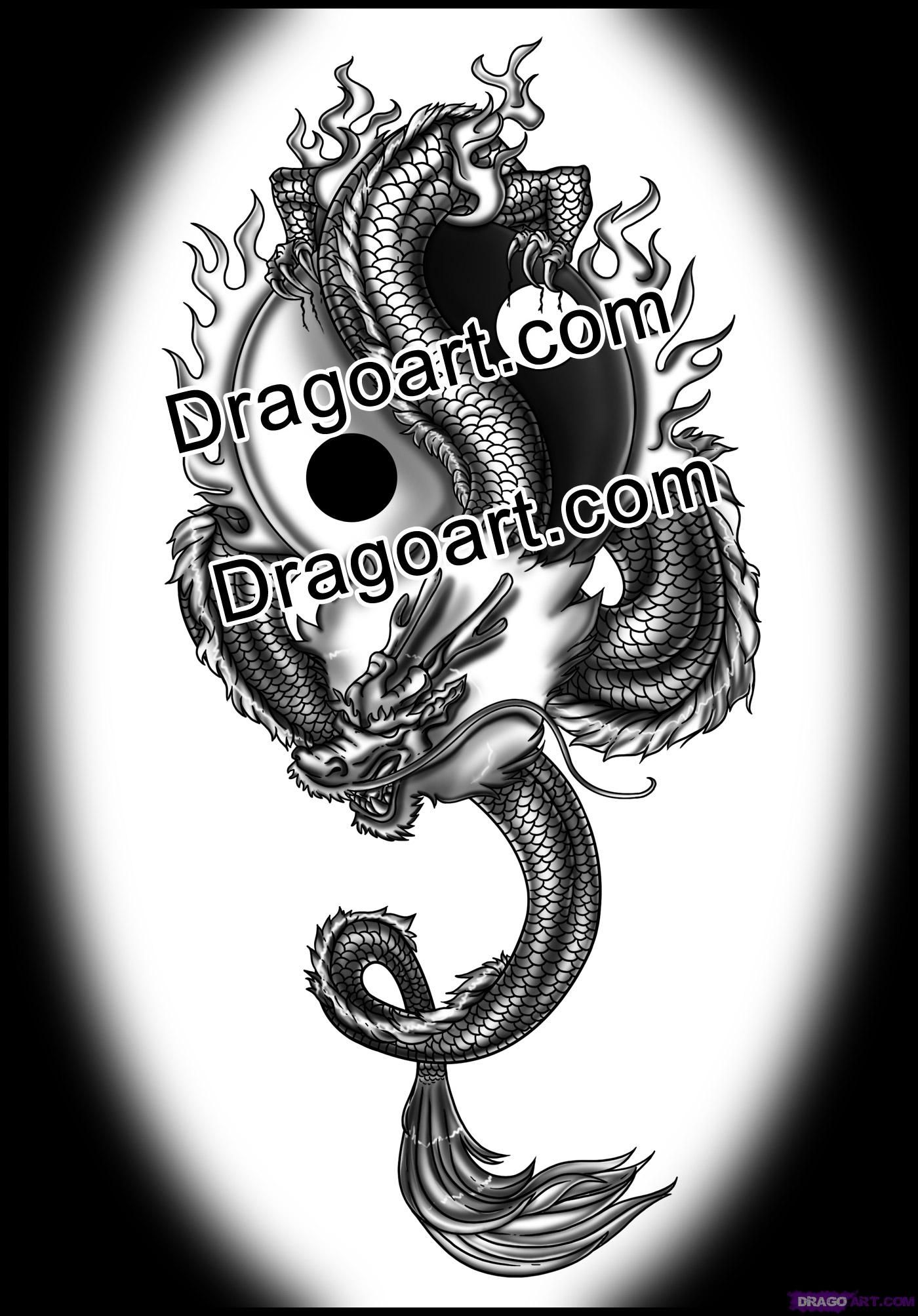 how to draw a chinese dragon tattoo tattoos Pinterest