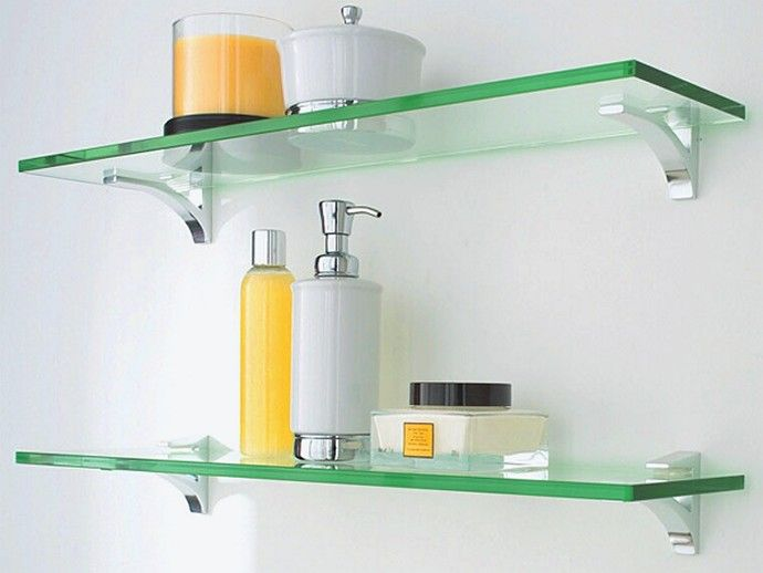 glass bathroom shelves | cool bathrooms | bathroom | pinterest