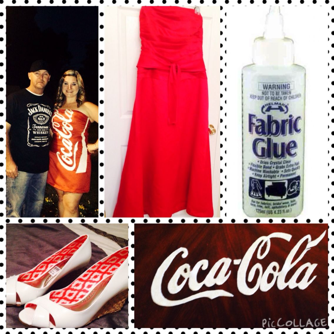 Jack and Coke Couple Costume. Under 20 each. Coke red