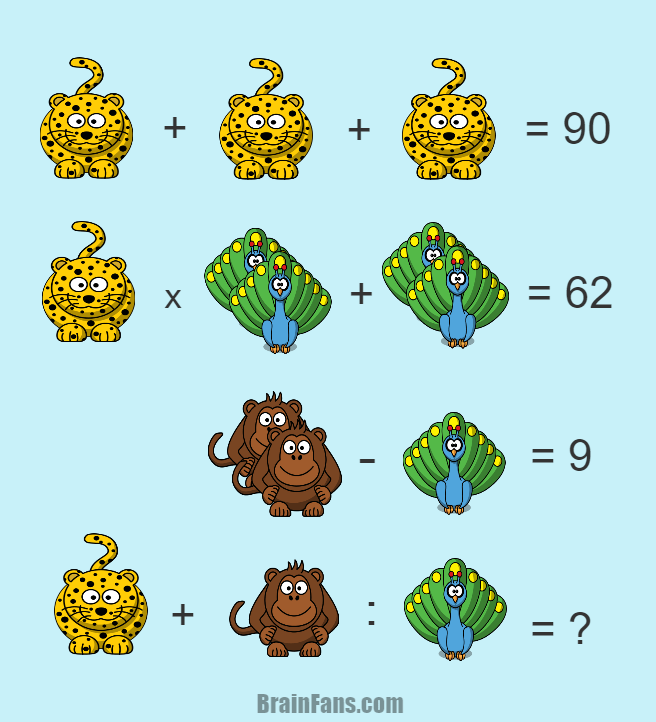 Brain teaser Number And Math Puzzle Difficult puzzle