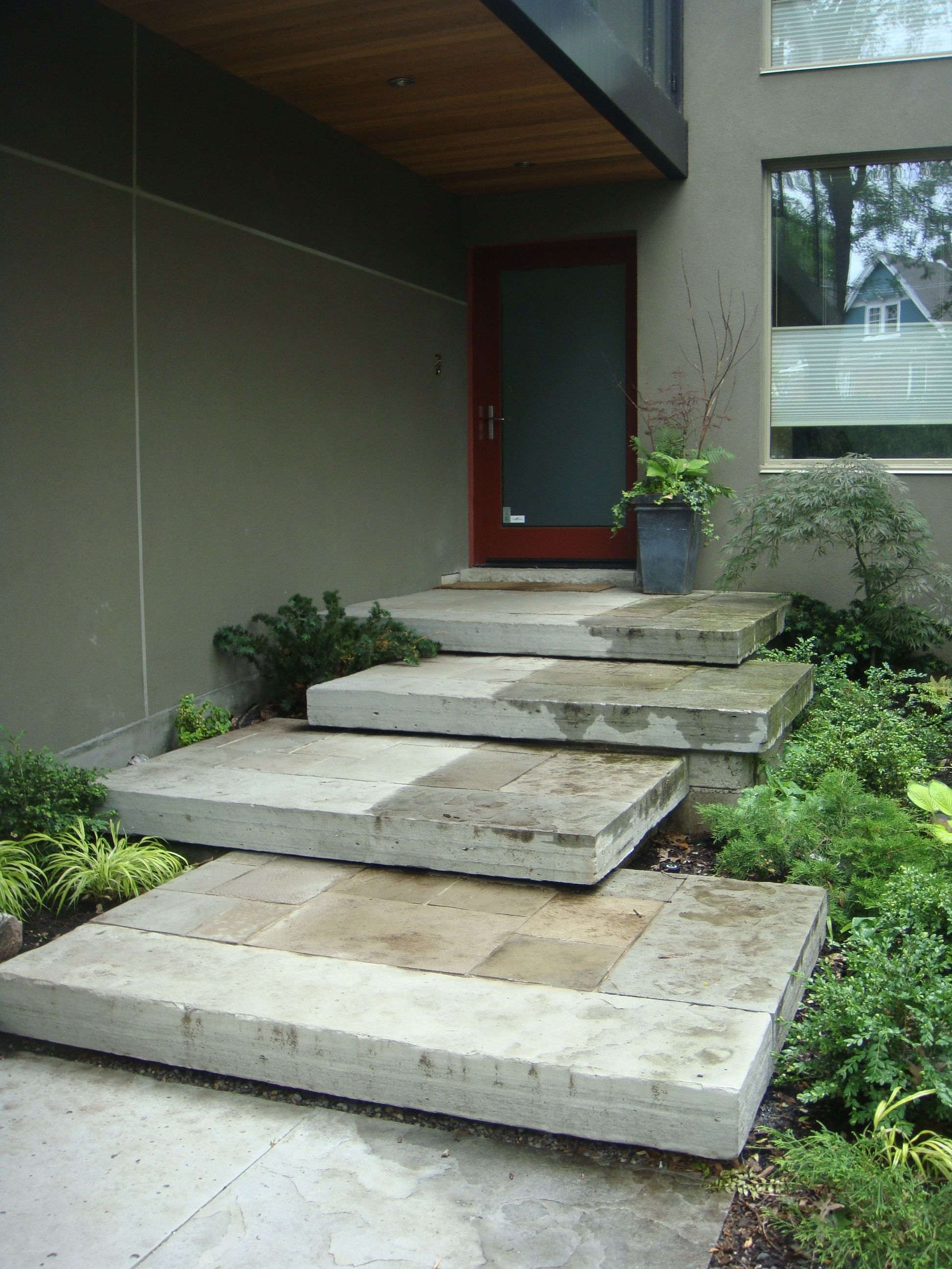 Front Door Steps Ideas Table And Chair And Door | Front Door Steps Designs | Simple Front Step | Single | Front Entryway | Decorative Entry Door | Garden
