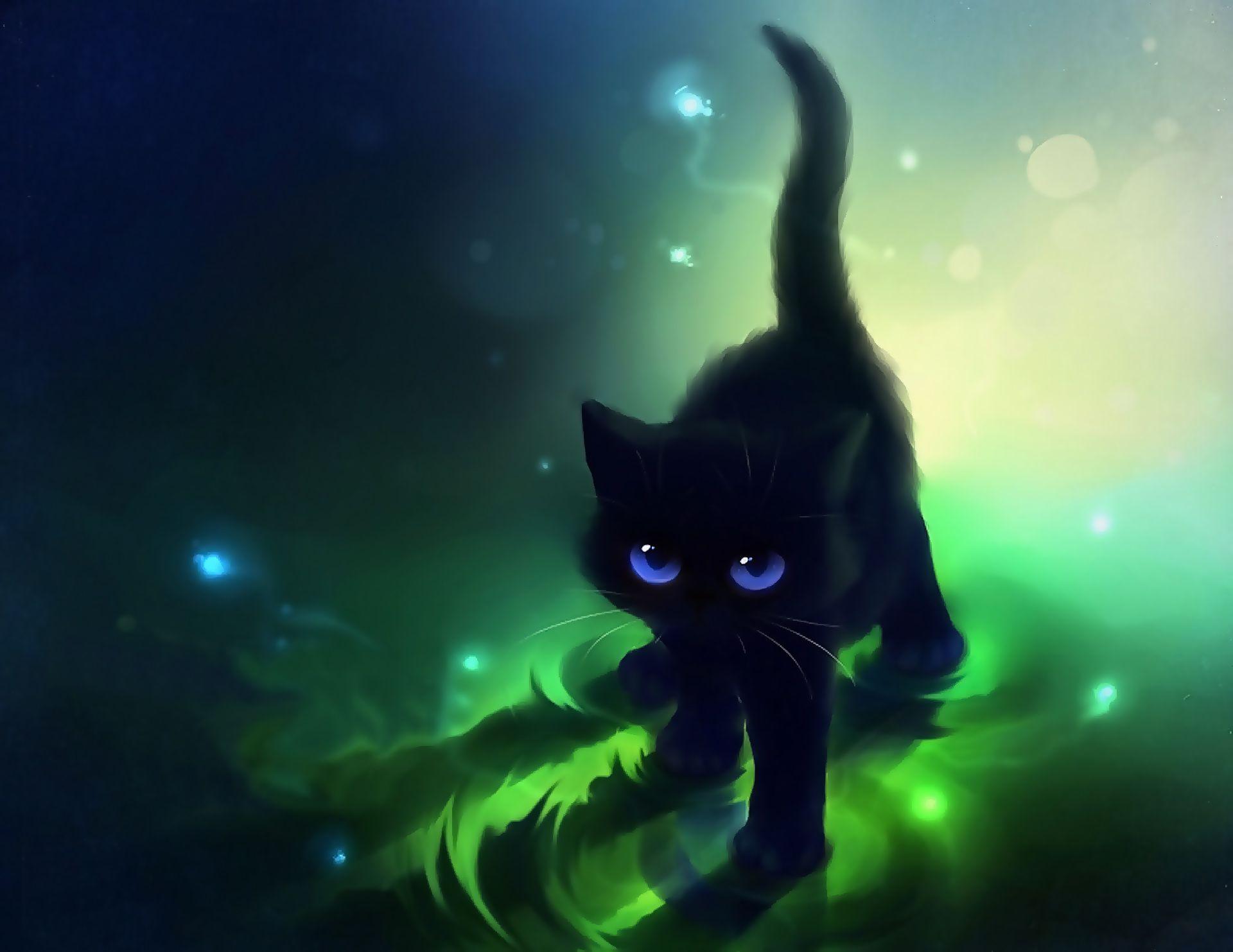 Cute Black Cat Cartoon Cute Black Cat Blue Eyes Cute Cat