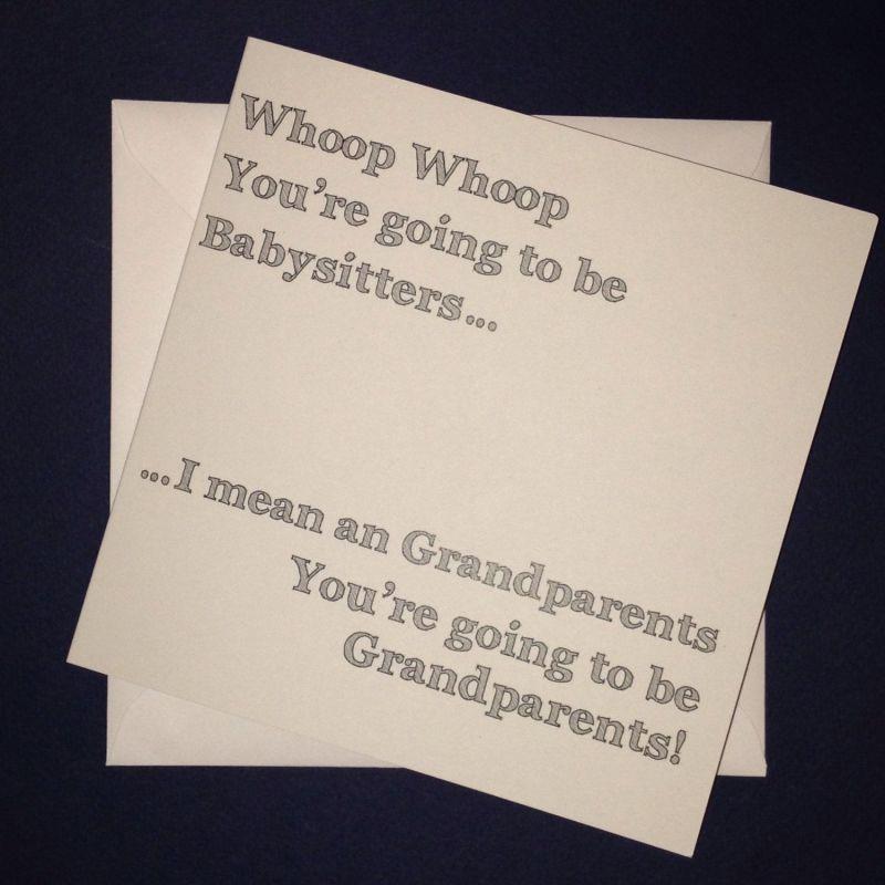 pregnancy announcement cards for grandparents