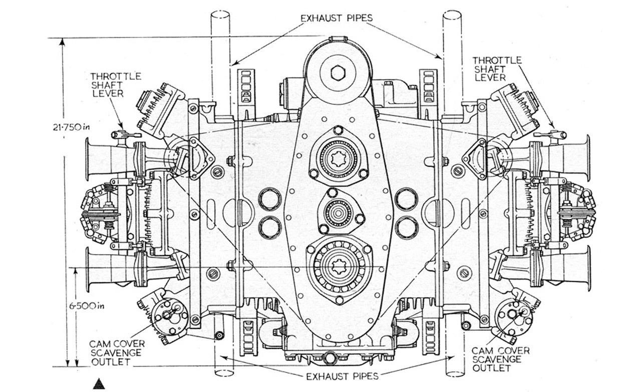 British Racing Motors H 16 Flat 16 Engine Diagram Photo S X782 782