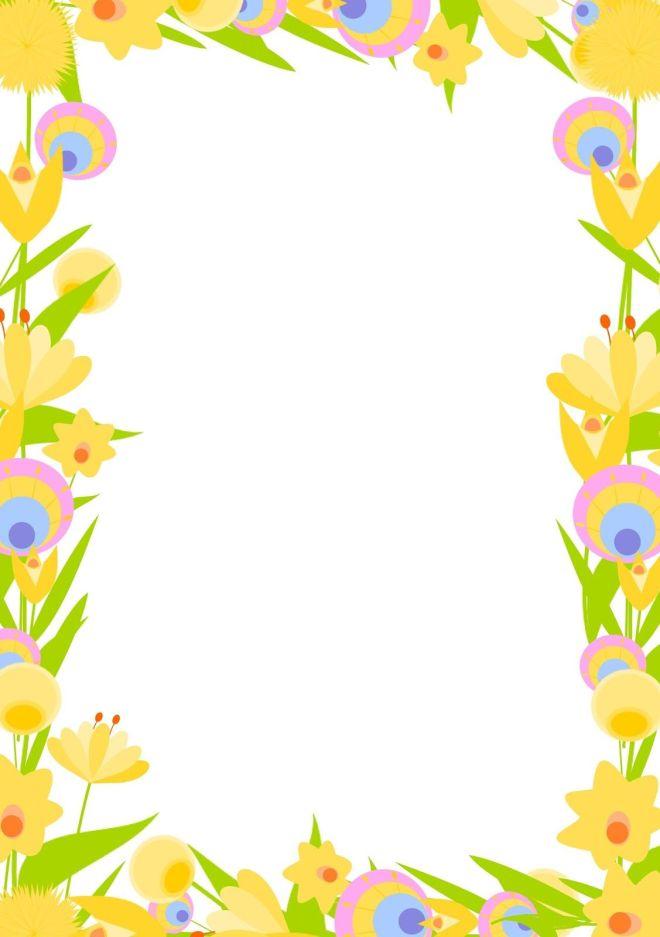 Free digital floral frame png and diy stationery