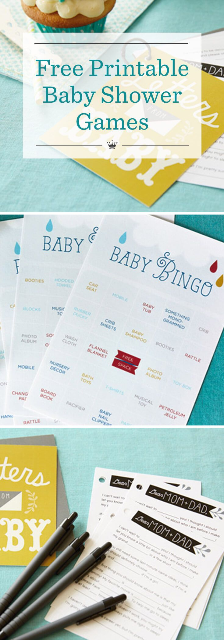 Free printable baby shower games Baby keepsake book, Fun