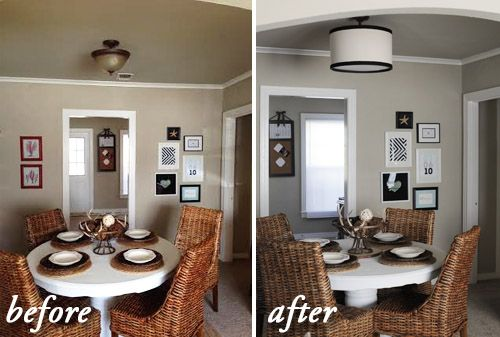 Cover Up An Ugly Pendant Light With This Diy Drum Shade Solution Great For Ers