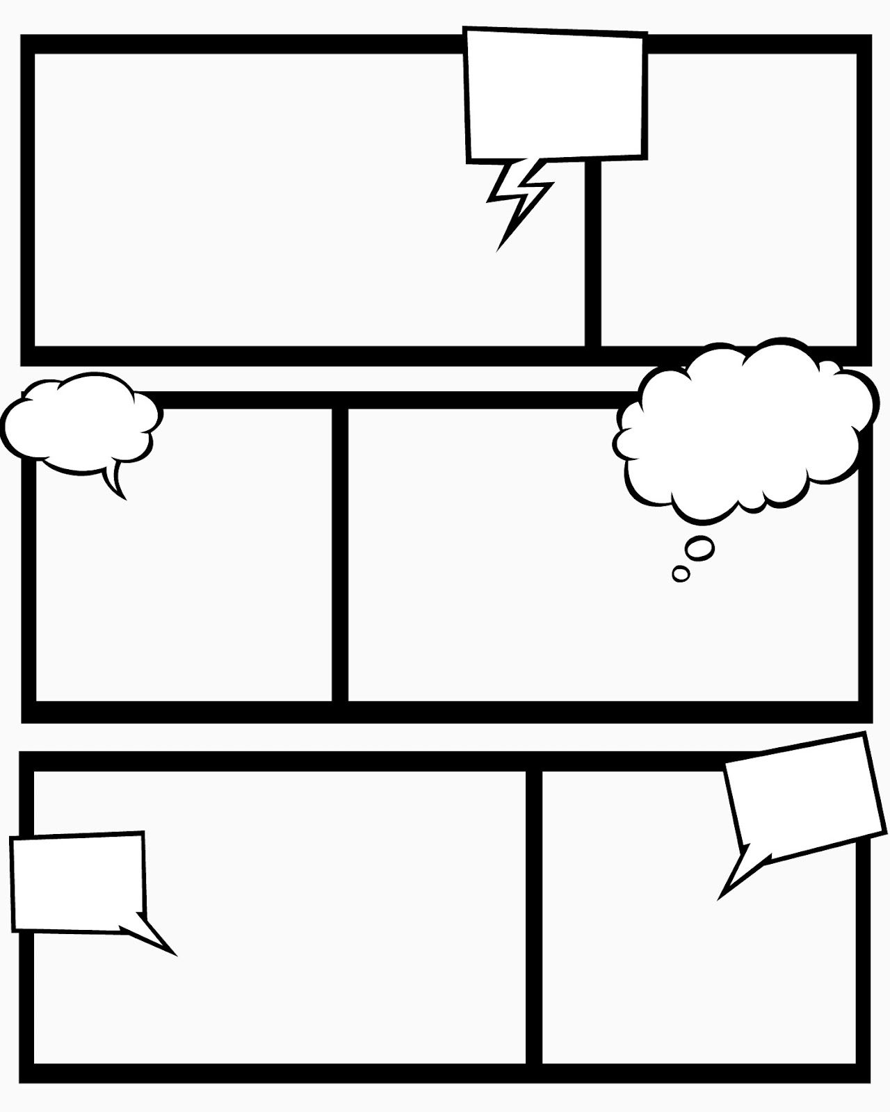 Comic Strip Blank Template