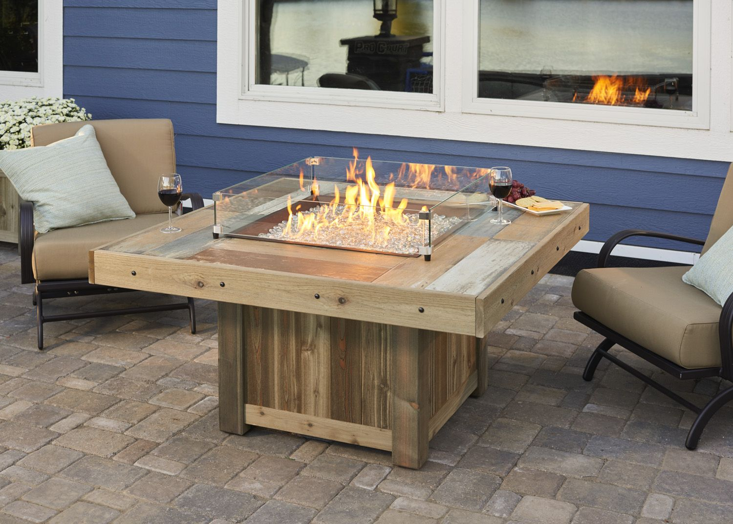 Vintage Fire Pit Table from Wissota Outdoor Living