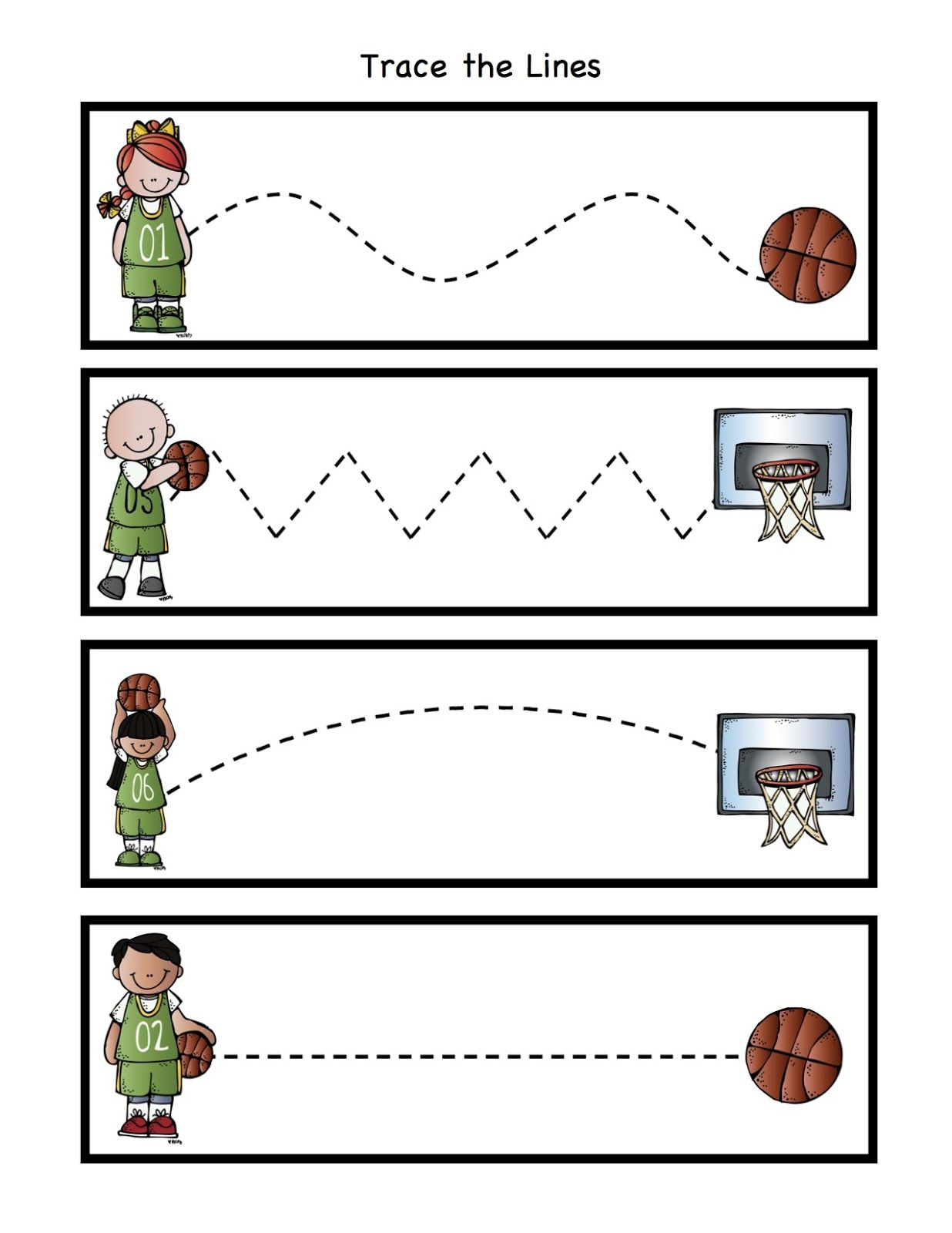 Preschool Printables Basketball