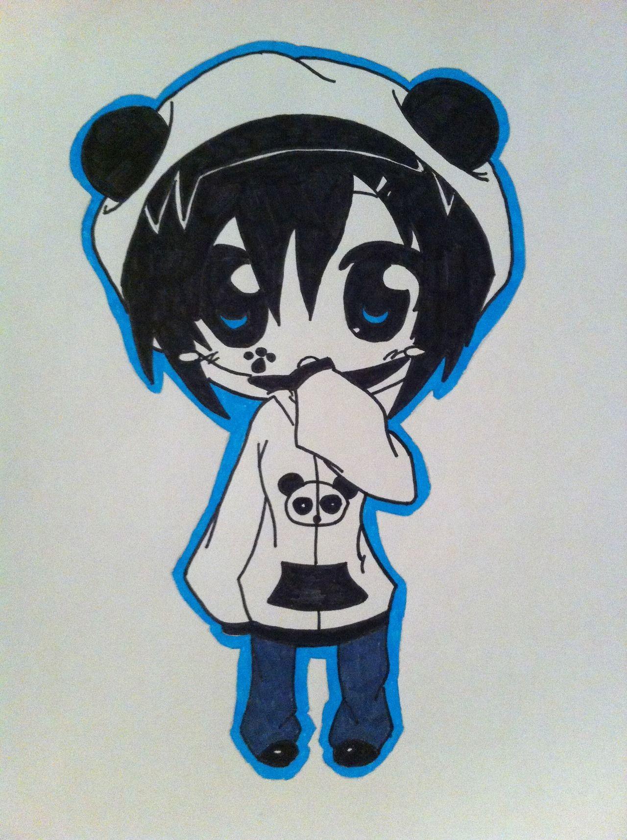 Chibi panda hoodie anime manga otaku vocaloid
