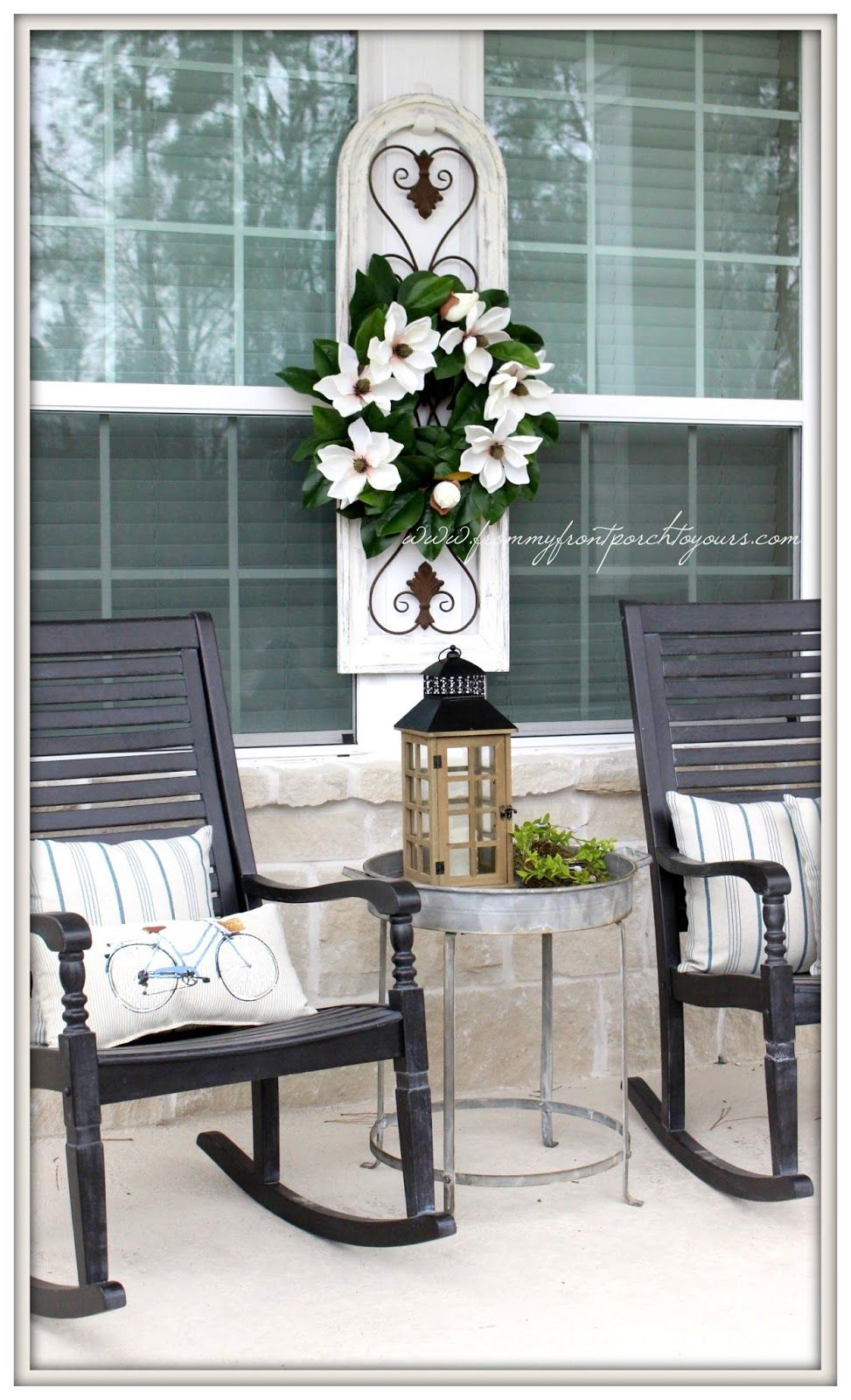 Early Spring Farmhouse Front Porch Farmhouse front