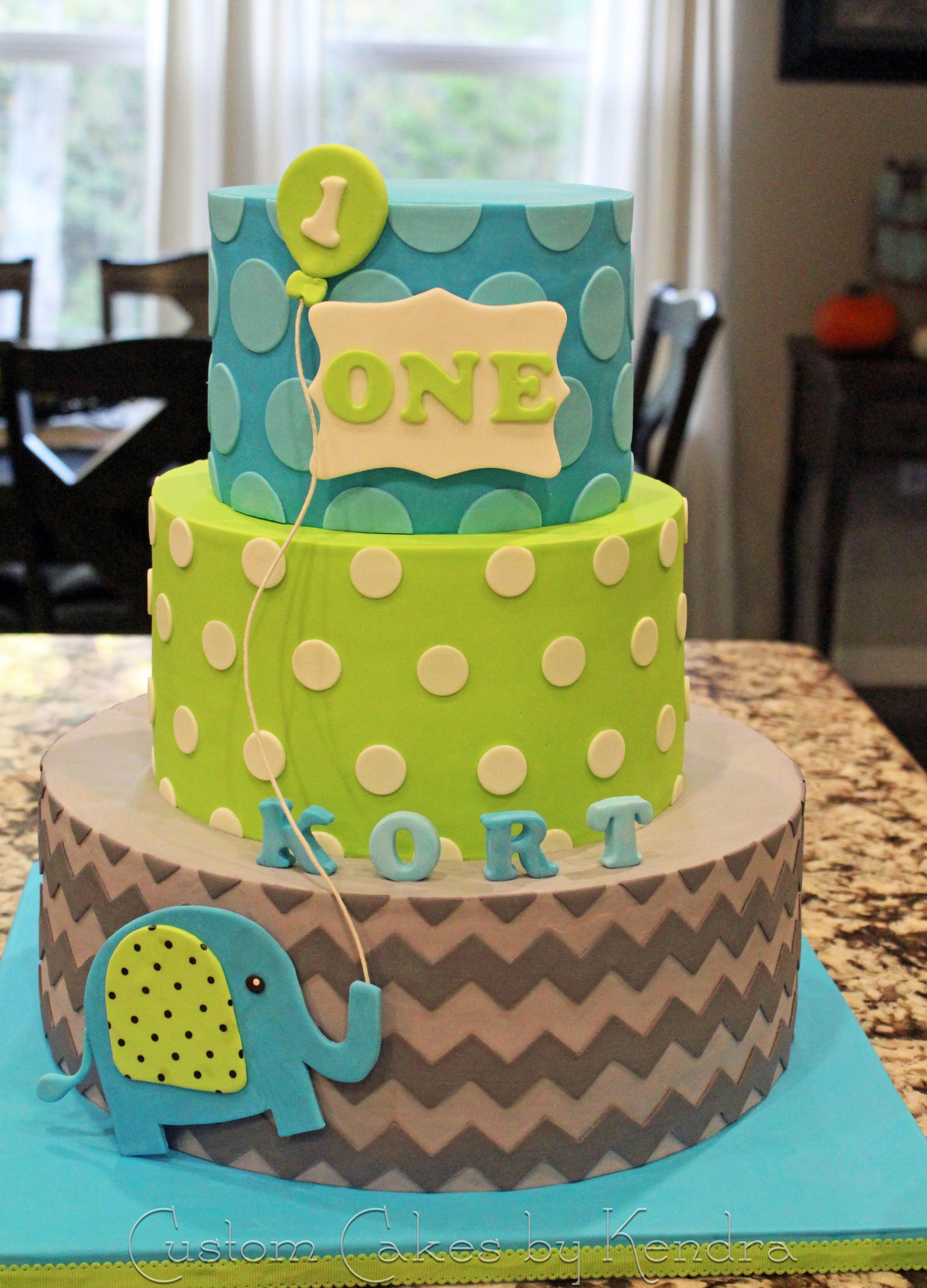 KORT'S FIRST BIRTHDAY Miracle baby's first birthday cake